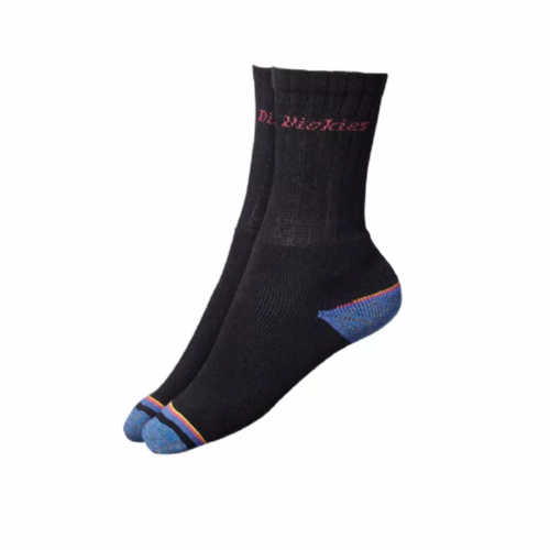 Dickies DCK00009S Strong Work Socks One Size Black Pack of 3
